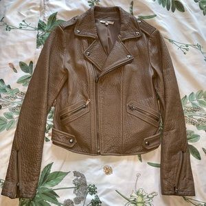 Rebecca Minkoff Pebbled Lamb Leather jacket